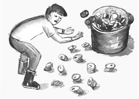 自費出版ブックメイド「障害児教育と私」の挿絵