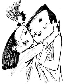 自費出版ブックメイド「生きるチカラ」の挿絵/太田利三画伯